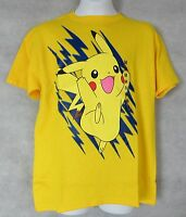Pokemon Boys T-Shirt Yellow Pikachu New Officially Licensed S M L XL NWT