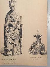 CARNET DESSIN (9) DEbut XX Sur Le Moyen Âge Roman Architecture Église Sculpté