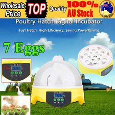 Digital 7 Egg Incubator Chicken Duck Bird Poultry Hatcher Temperature Control AU