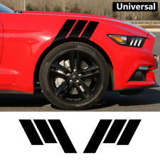 2x Racing Car Fender Hash Stripe Decal Sticker Black for Ford Mustang 2015-18