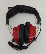 NASCAR Racing Headset Scanner Headphones Red Adjustable Volume Control R10792
