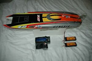 Genesis Catamaran Racing Boat Electric Brushless RC - with upgrades 11.1v 2.5ghz