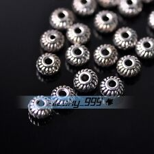 100pcs 6mm Tibetan Silver Zinc Alloy Loose Spacer Beads Jewelry Making Findings