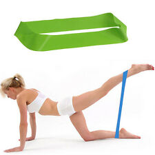FITNESS EQUIPMENT ELASTIC EXERCISE RESISTANCE LOOP BANDS TUBE WORKOUT FOR YOGA