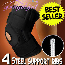 Fully Adjustable Flexible Metal Support Ribs Full Knee Brace - Don't Pay $54.95
