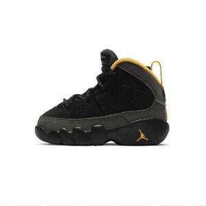 Nike Air Jordan Retro 9 Dark Charcoal Black University Gold Yellow Toddler TD