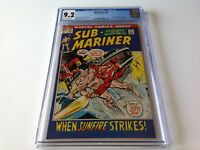 SUB-MARINER 52 CGC 9.2 SUNFIRE NAMORITA DRAGON LORD EVERETT KANE MARVEL COMICS