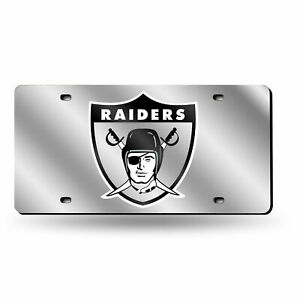 Las Vegas Raiders Retro Mirrored Laser Cut License Plate Laser Tag