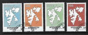 SVALBARD SPITZBERGEN LOCAL STAMPS SET NORWAY SPIDSBERGEN,SPITSBERGEN,RUSSIA,MAP