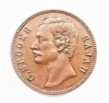 Sarawak -  C. Brooke Rajah - 1870 H  - One Cent - Heaton Mint