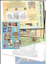 Vaticano. Sellos, Hojas Bloques de los años 1974 a 1992. Valor 654.40 Euros