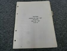 John Deere B Bn Bw Br Bo Not Styled Tractor Parts Catalog Manual Pc-Rb1