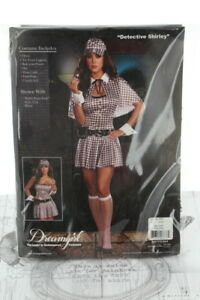 DreamGirl Detective Shirley Party Costume Style 5987 Medium (UK10-12)