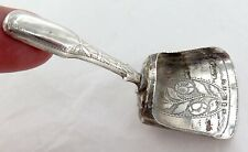 1700s / 1800s GEORGIAN DELIGHTFUL ENGLISH STERLING SILVER TINY SCOOP CADDY SPOON