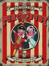 Punch & Judy, British Seaside Holiday Old Puppets, Large Metal Tin Sign