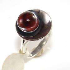 N.E. From Sterling Silver Amber Modernist Abstract Band Ring Size 7.5 LDA38