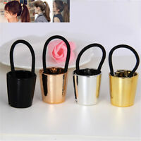 Chic Womens Metal Elastic Ponytail Holder Hair Cuff Wrap Tie Band Ring Ropes