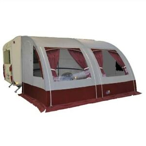 Apache Mexico Lightweight 4m Caravan Porch Awning in red with Alloy Frame