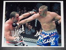 UFC MMA Dual Signed Chuck Liddell and Wanderlei Silva Autographed 8x10 Photo
