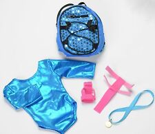 """Teal 18"""" All-American Tumbler gymnastics Outfit"""