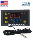 High Precision Digital Temperature Thermostat Controller Red Blue W3230 AC 110V