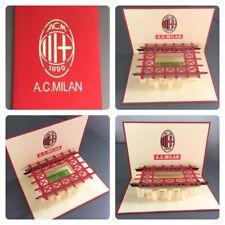 AC Milan, San Siro Stadium Card. 3D hand made greeting card,