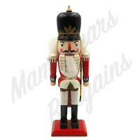 "Vintage Large 15"" Wooden Nutcracker Soldier Christmas Decoration"