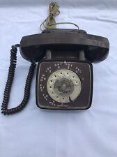 Vintage GTE Rotary Phone Brown 1978