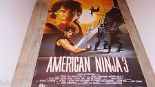 AMERICAN NINJA 3  !  affiche cinema karate kung-fu