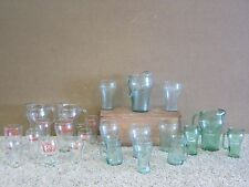 LARGE COLLECTION COKE COCA COLA LOT OF 24 GLASS PITCHERS & DRINKING CUPS #BOX2