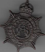 WW2 Australian Army Services Corps 25mm collar badge blackened brass