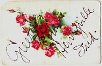 Old HENRYVILLE Indiana Ind Postcard GREETING Clark Co