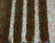 "Lime/Rust Printed Chiffon 100% Silk Fabric 44"" Wide, By the Yard (Ts-7456)"