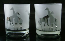 Giraffe Whisky Glasses by Glass in the Forest. Boxed