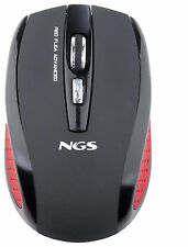 NGS 2.4GHz Wireless Optical Gaming Mouse 5 Buttons Black Flea Advanced