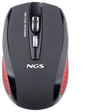 NGS 2.4GHz Ratón inalámbrico óptico para juegos de 5 Botones Negro Pulga avanzada