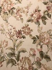 Cottage Roses Floral Upholstery Drapery Fabric Shabby Chic Romantic