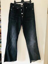 J CREW Billie demi boot crop black with frayed bottoms 30R