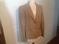 NEW PENDLETON  Beige Tan 100% Pure Virgin Wool Women's Jacket Blazer NOS
