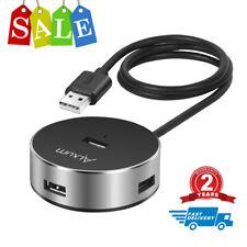 ALXUM USB 2.0 Hi-Speed 4 Port Hub Splitter for PC Laptop Notebook + 60CM Cable