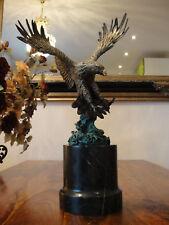 Bronze + Marmor Königsadler Adler Luxus Bronzefigur Statue Skulptur Edel Antik