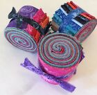 Lacey Florals jelly roll 15 pre cut strips 100% cotton fabric quilt