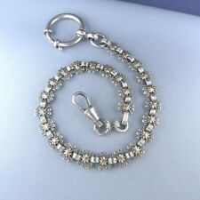 Sterling Silver Two Tones Pocket Watch Chain