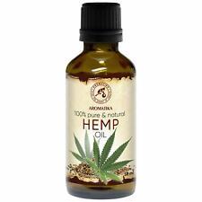 Huile de Chanvre Vierge Pur 50ml Cannabis Sativa huile Base Massage Cosmétiques