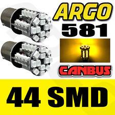 581 44 LED BERNSTEIN ORANGE BLINKLICHT VERSETZT BAU15S PY21W HINTERE BIRNEN