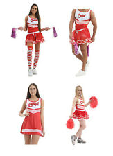 Fancy Dress Hen Stag Cheers Cheerleader Costume Set Tutu Vest Socks Party Outfit