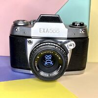 Exa 500 Vintage 35mm SLR Camera & 50mm Lens Film Tested! Working Order