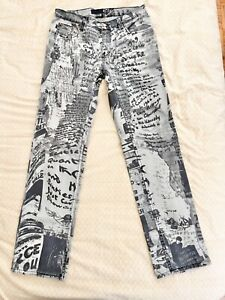 Roberto Cavalli jean shorts  90s denim cotton 24 inch vintage short  Just Cavalli distressed panties  cut off women/'s pants jeans size XS