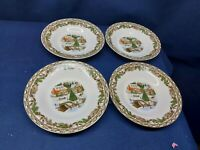 """Gibson Home Designs """"Christmas Toile"""" Set/4 Rimmed Soup/Salad Bowls Beautiful!"""