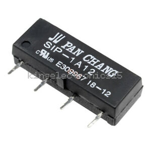 10PCS 12V SIP-1A12 Reed Relay Switch Relay 4PIN for PAN CHANG Relay NEW
